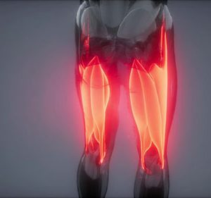 Hamstring pain due to muscle rigidity