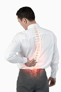 Back pain because of bad posture