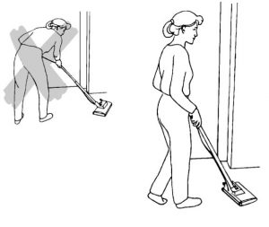 Cleaning in bent position