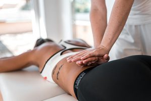 Manual therapy performed by physiotherapist