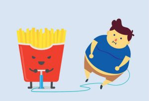 Unhealthy food causes health problems